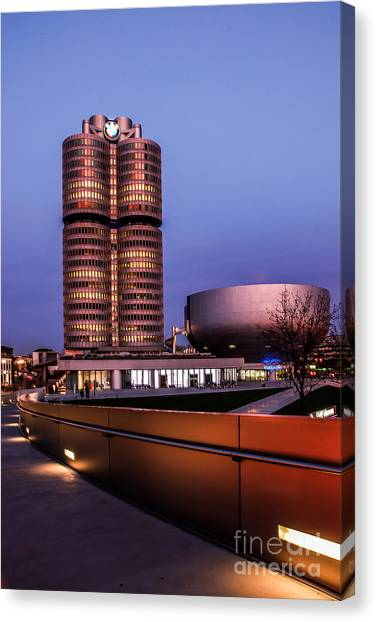 munich - BMW office - vintage Canvas Print
