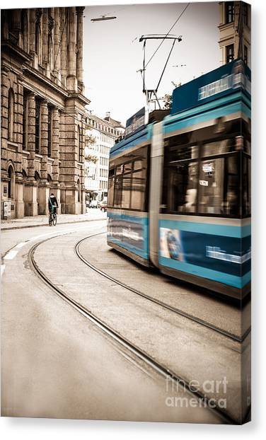 Munich City Traffic Canvas Print