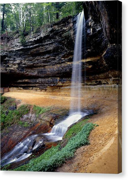 Munising Falls Canvas Print by Tim Hawkins