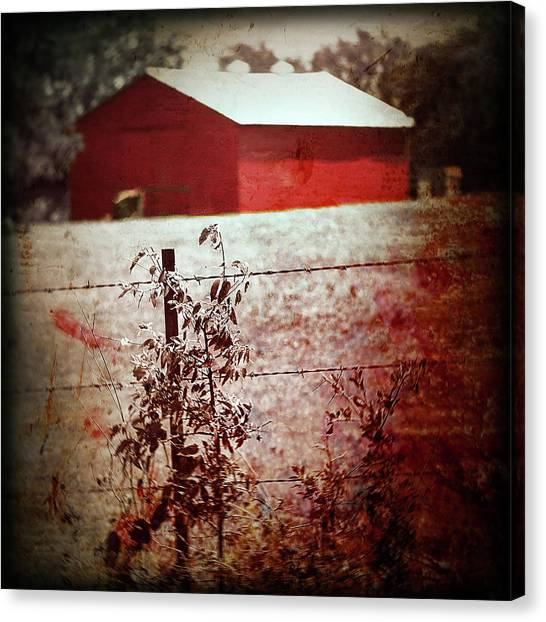 Murder In The Red Barn Canvas Print