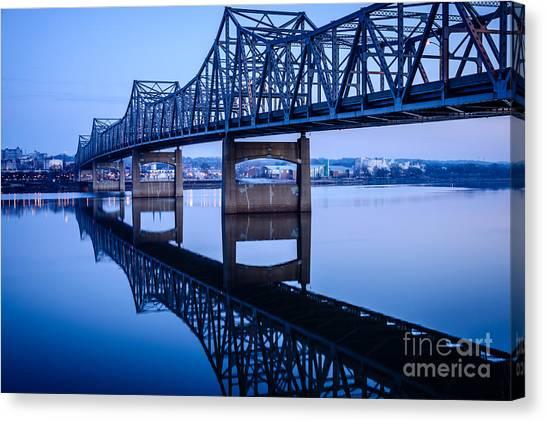 American Steel Canvas Print - Murray Baker Bridge In Peoria Illinois by Paul Velgos