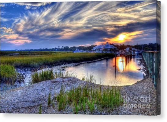Canvas Print featuring the photograph Murrells Inlet Sunset 4 by Mel Steinhauer