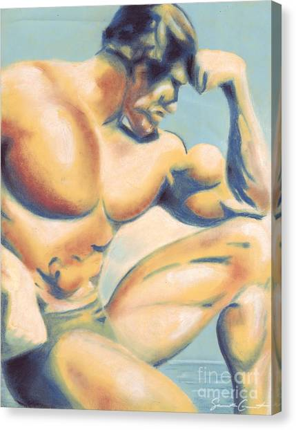 Muscle Beach Canvas Print