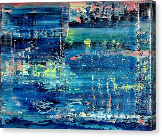 Gerhard Richter Canvas Print - Muse And Sky by Daniel Johnstone