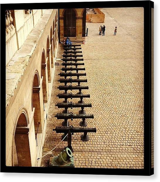 Army Canvas Print - Musee De L'armee Cannons by Michael Maiale