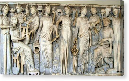 The Vatican Museum Canvas Print - Muses And Poets by Ellen Henneke