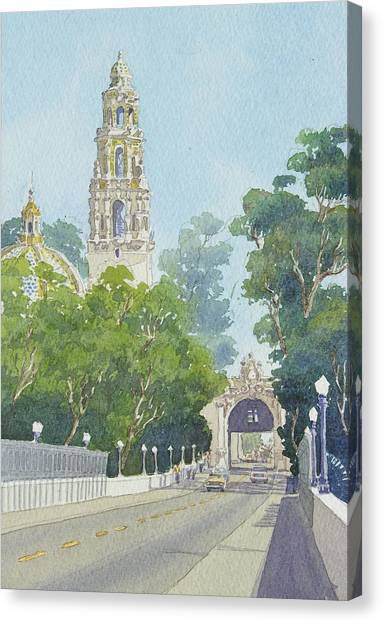 Bell Canvas Print - Museum Of Man Balboa Park by Mary Helmreich