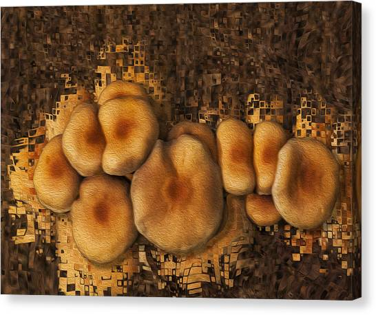 Shrooms Canvas Print - Mushroom Cluster by Jack Zulli