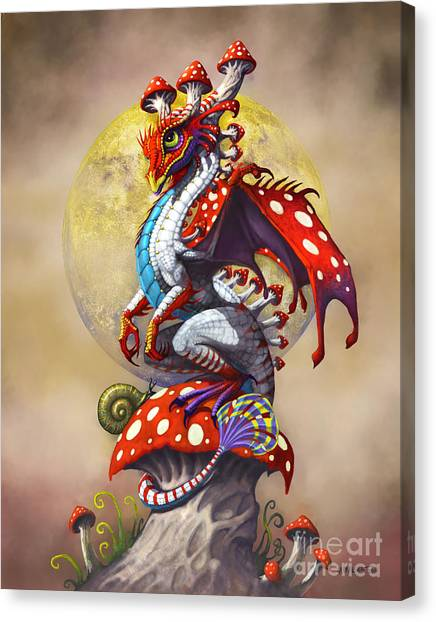 Vegetables Canvas Print - Mushroom Dragon by Stanley Morrison
