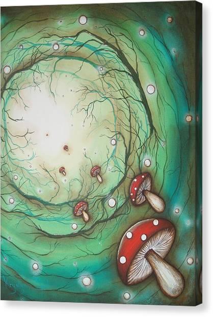 Mushroom Time Tunel Canvas Print