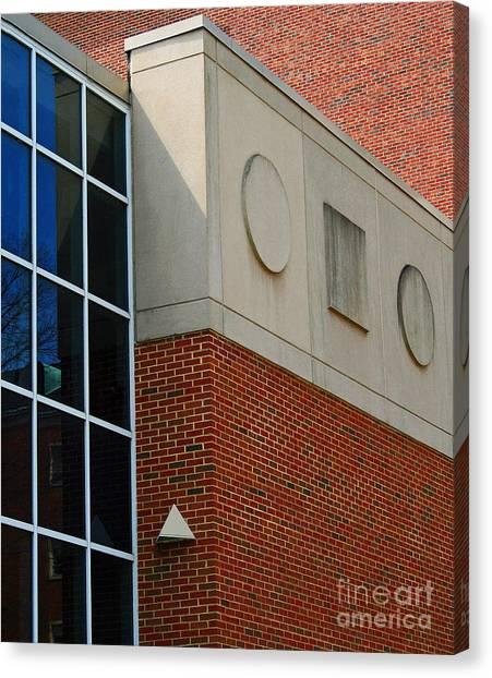 Ohio University Canvas Print - Music Building At Ohio University by Karen Adams