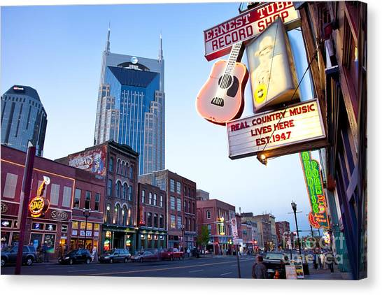 Music City Usa Canvas Print