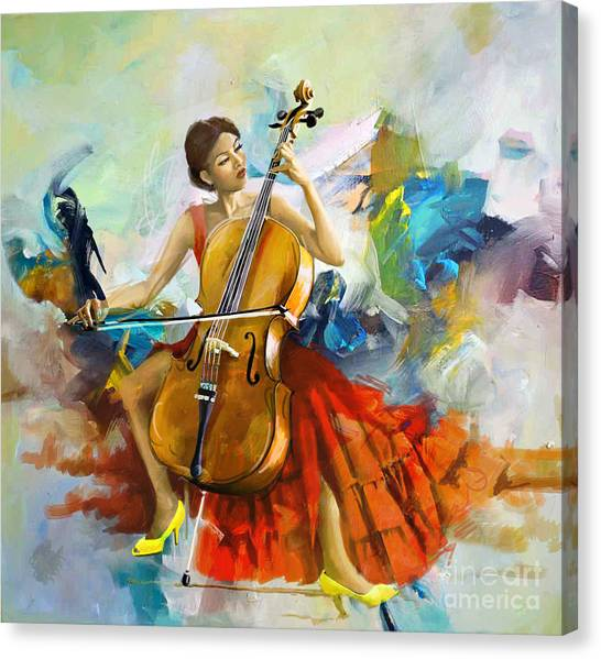 Flamenco Canvas Print - Music Colors And Beauty by Corporate Art Task Force