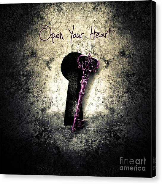 Texture Canvas Print - Music Gives Back - Open Your Heart by Geek N Rock