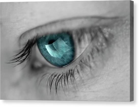 Notes Canvas Print - Music In Her Eyes by Xavier Garci