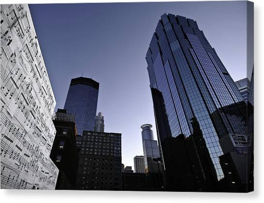 Music In The City Canvas Print