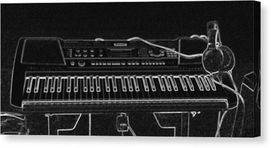 Synthesizers Canvas Print - Music In The Dark by Billy Cooper Rice