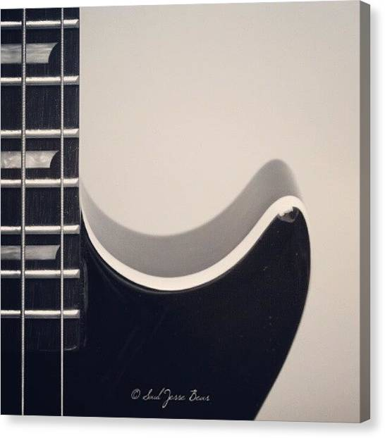 Bass Guitars Canvas Print - Music Is Everything by Saul Jesse Beas