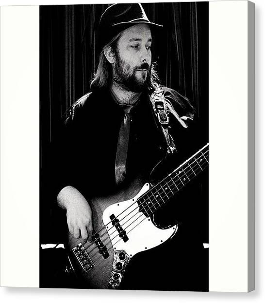 Fender Guitars Canvas Print - #music #man #bass #hat #fender #5string by Toonster The Bold
