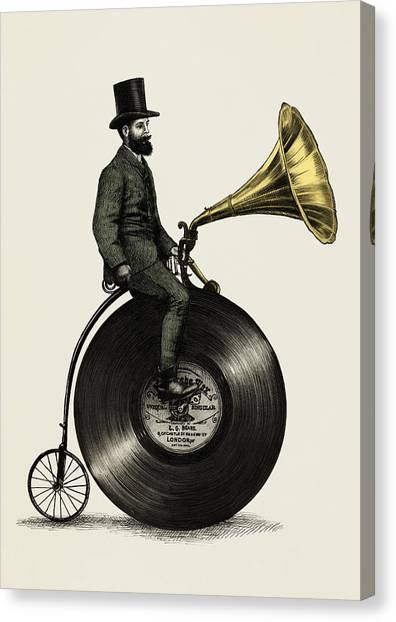 Top Canvas Print - Music Man by Eric Fan