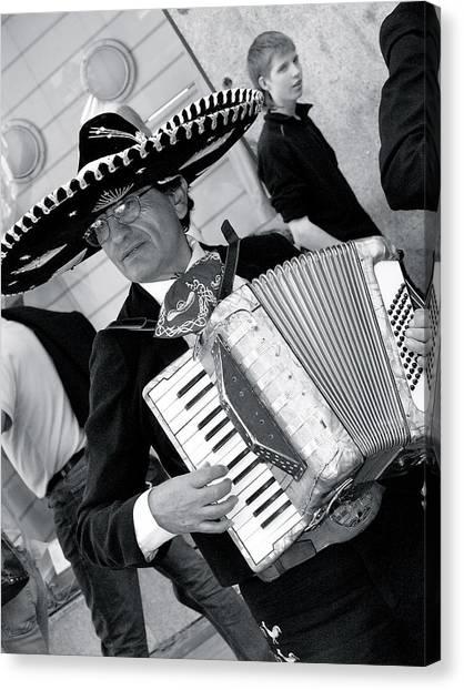 Music-mariachi Accordionist Canvas Print