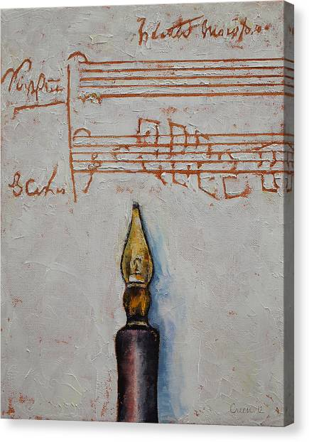 Mozart Canvas Print - Music by Michael Creese
