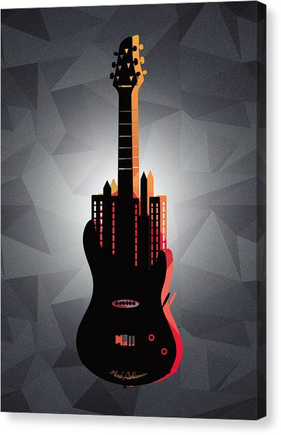 Presentations Canvas Print - music NYC  by Mark Ashkenazi