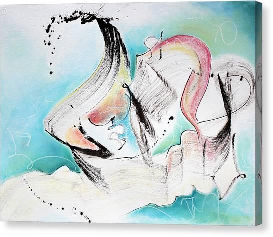 Music Of Sea Waves Canvas Print