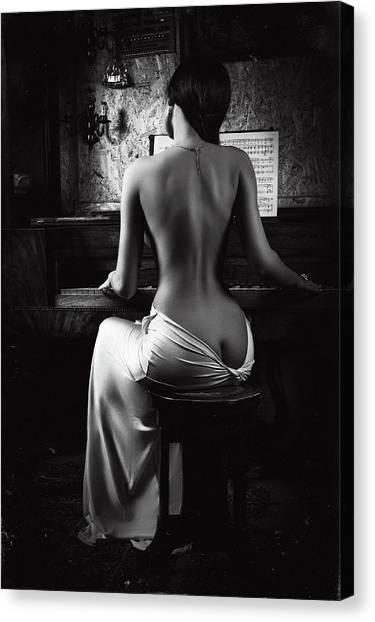 Music Of The Body Canvas Print by Ruslan Bolgov (axe)