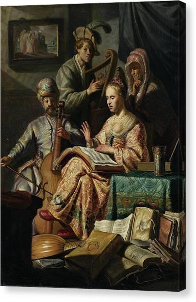Rijksmuseum Canvas Print - Music Rend Company by Rembrandt van Rijn