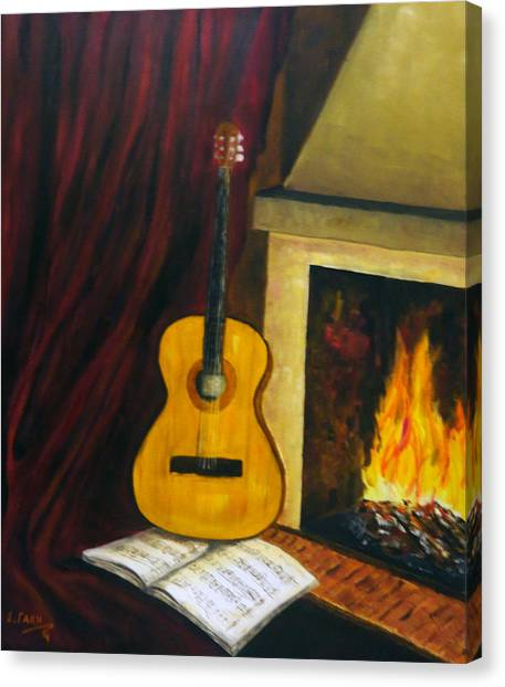 Music Warms The Soul Canvas Print