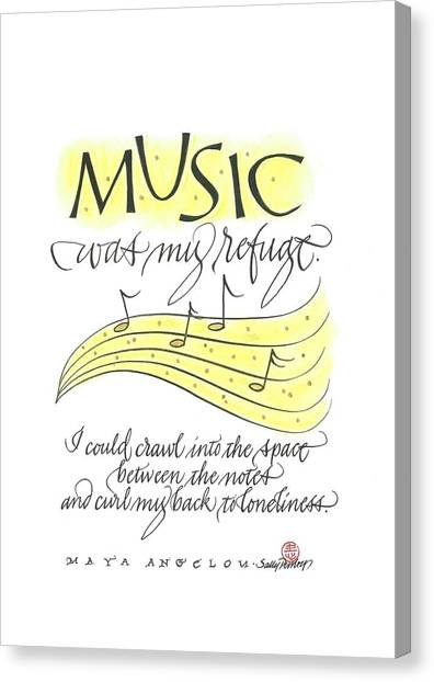 Music Was My Refuge Canvas Print