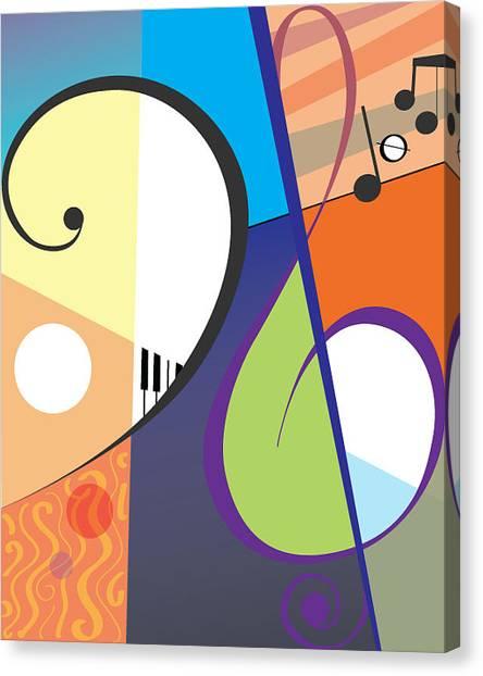 Musica Canvas Print