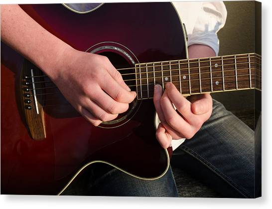 Musical Hands Canvas Print