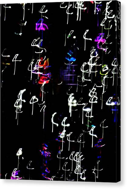 One Direction Canvas Print - Musical Notes I by Kruti Shah