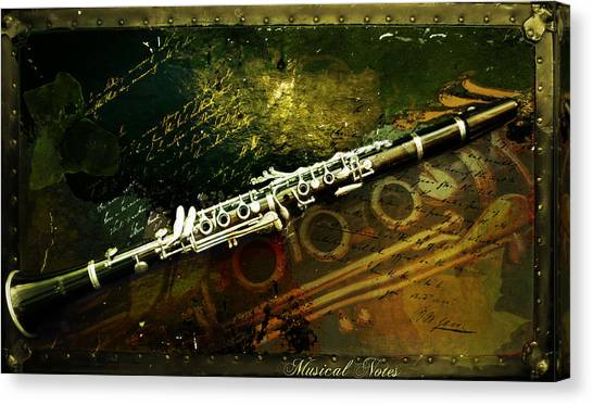 Musical Notes Canvas Print