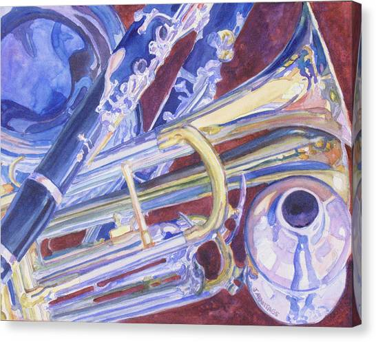 Clarinets Canvas Print - Musical Reflections by Jenny Armitage