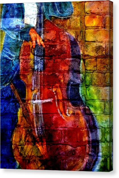 Musician Bass And Brick Canvas Print