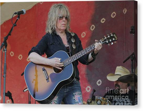 Folk Singer Canvas Print - Musician Lucinda Williams by Concert Photos