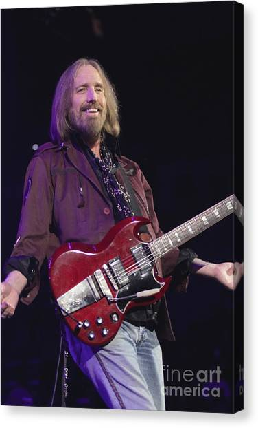 Tom Petty Canvas Print - Musician Tom Petty  by Concert Photos