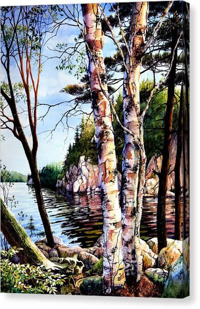 Canadian Landscape Canvas Print - Muskoka Reflections by Hanne Lore Koehler