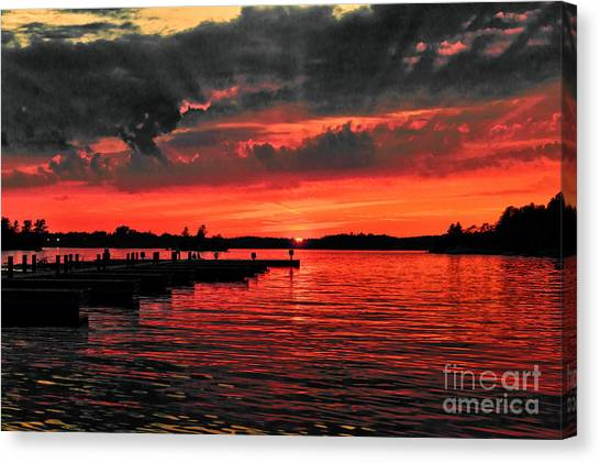 Muskoka Sunset Canvas Print
