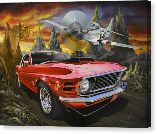 Mustangs 3 Canvas Print