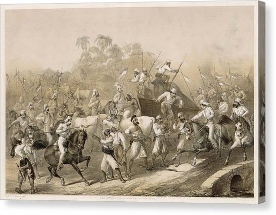 Mutineers Surprised By Her  Majesty's Canvas Print by Mary Evans Picture Library