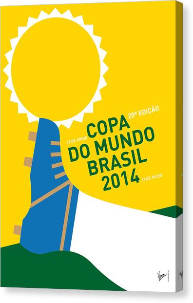 South American Canvas Print - My 2014 World Cup Soccer Brazil - Rio Minimal Poster by Chungkong Art