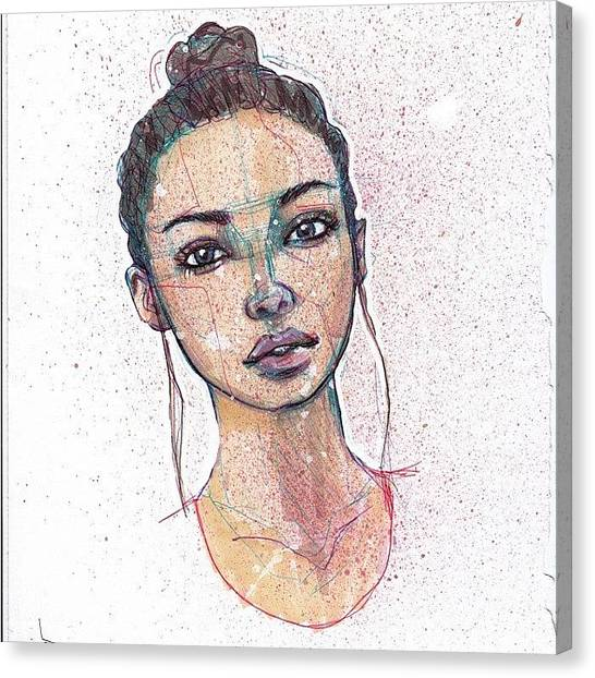 Ballpoint Pens Canvas Print - Monica by Jef2D