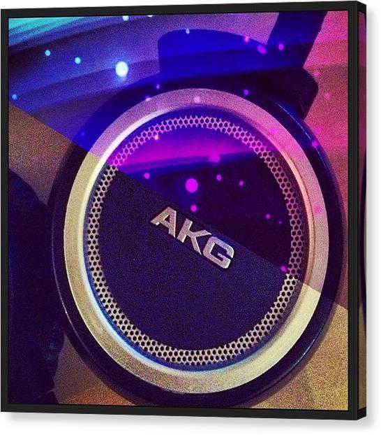 Headphones Canvas Print - My Akg K451 - #music #headphones by Paul Petey