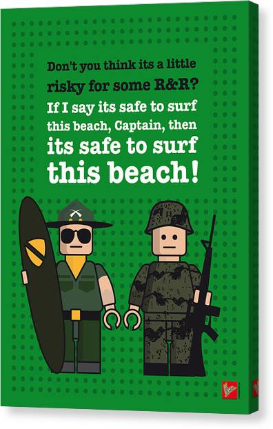 Special Forces Canvas Print - My Apocalypse Now Lego Dialogue Poster by Chungkong Art