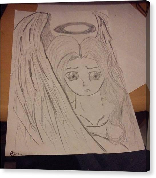 Teachers Canvas Print - My #art #teacher Told Me I Couldn't by Elina Woodham