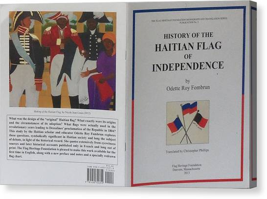 My Artwork The Making Of The Haitian Flag In Publication Canvas Print